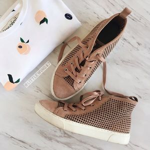 1. State Shoes - Blush pink perforated high-top sneakers