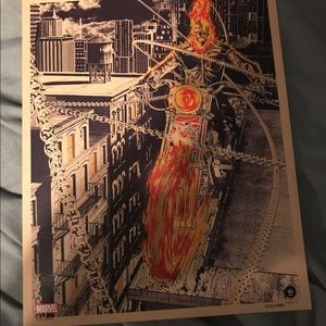 Marvel Other - Ghost Rider exclusive print. Numbered. Comic Con.
