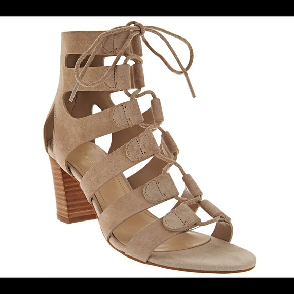 Forever 21 Faux Suede Block Heels , Nude in Natural - Save