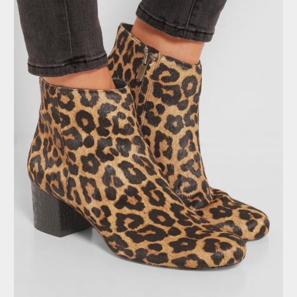 e449ec6ff Sam Edelman leopard print calf hair booties. M 593de3b16d64bc016d024433