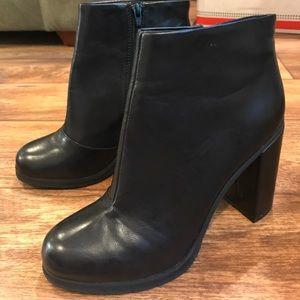 Black Vegan Leather Booties