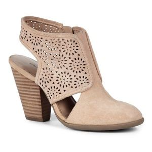 Sole Society Shoes - Sole Society Camel Suede Booties