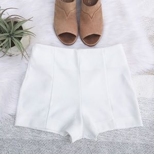 Forever 21 Pants - F21 White High-Waisted Shorts