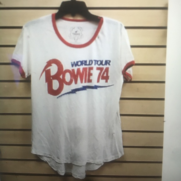 09b91248d Trunk LTD world tour Bowie 74 t yellow shirt NWT