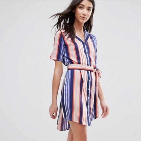 NWT ASOS Stripes Shirt Dress with Belt 5db9be4cf