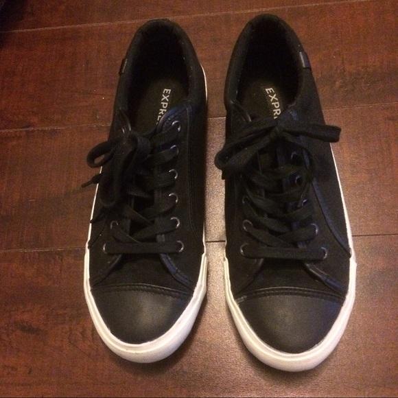 Express Shoes Mens Black Sneakers Tennis Poshmark