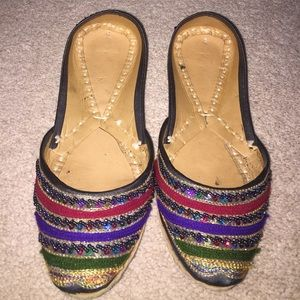 40 Off Shoes Bata Pakistani Shoes Gold With Colorful