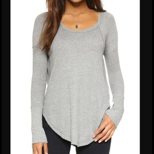 free people grey thin thermal