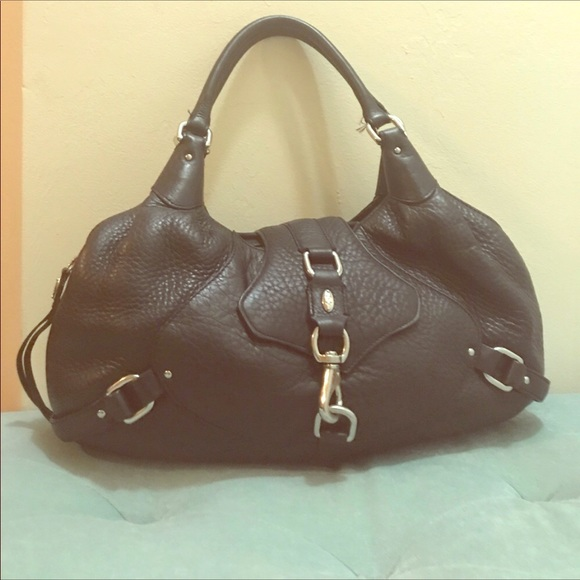 f1d25d01509c Image is loading SALVATORE-FERRAGAMO-Brown-Black-Ombre-Patent-Leather-Hobo-