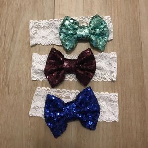 Other - Shelby Chic Sparkle Bow Headbands