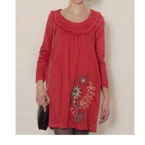 Red Titis Flora Babero Dress