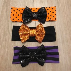 Other - Shelby Chic Halloween Sparkle Bow Headband Set