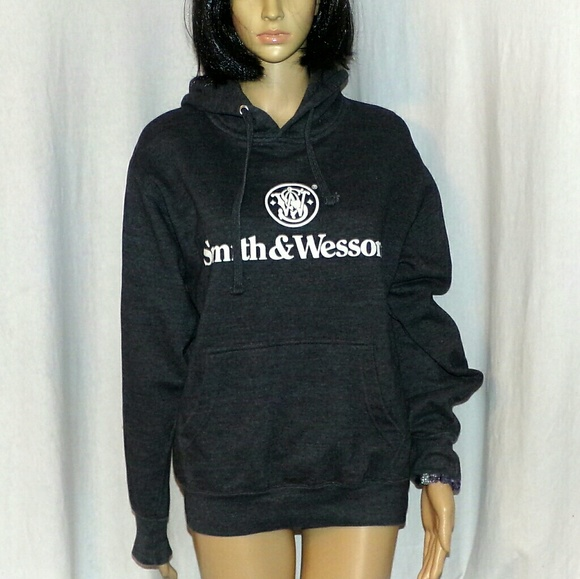 Smith /& Wesson Pullover Hooded Sweatshirt BLACK M
