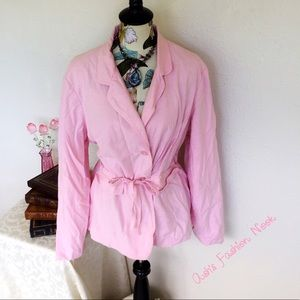 nonbranded Jackets & Blazers - Pink Trench Coat