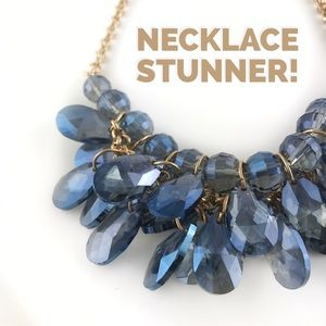"Jewelry - Blue Glass ""Sapphire"" Necklace"