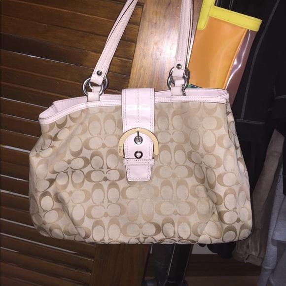 83 off coach handbags light pink coach purse good