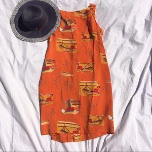 Vintage Dresses & Skirts - Vintage summer sailboats & compass traveler dress