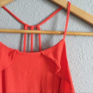 Gianni Bini Blood Orange Sleeveless Top