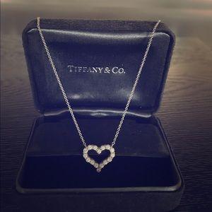Swarovski jewelry heart key and lock necklace poshmark tiffany platinum diamond heart pendant necklace aloadofball Choice Image