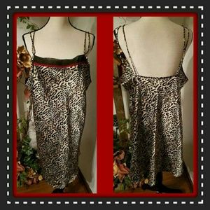 Other - Cheetah Print Silky Plus Nighty