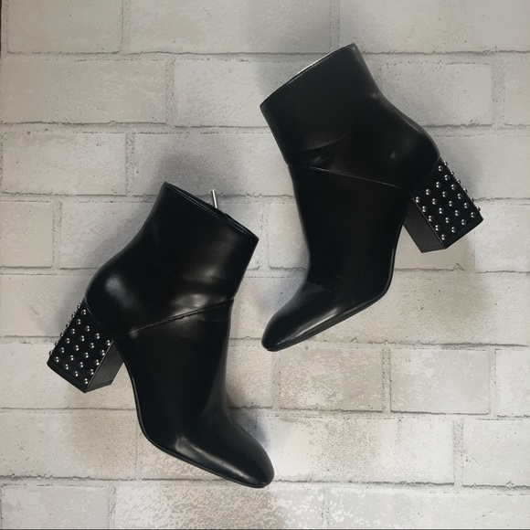 280e7bce6f46 Studded Heel Ankle Boot