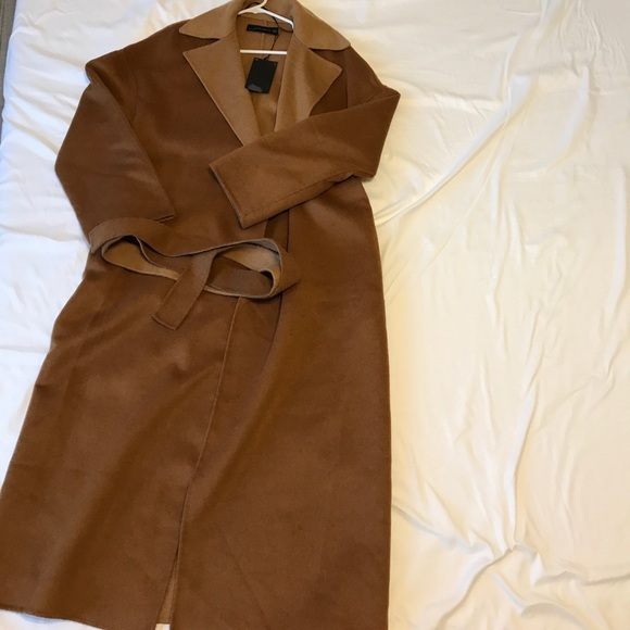 1d4bc00b Zara Jackets & Coats | New With Tags Handmade Wool Camel Coat In M ...