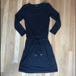 Black Theory Drawstring Dress