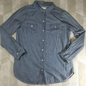 OLD NAVY Chambray Denim Shirt, Medium