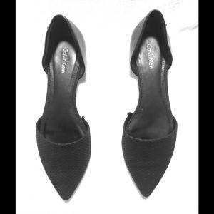 Calvin Klein Shoes - Calvin Klein Laura Black Leather Flats Shoes Sz8.5