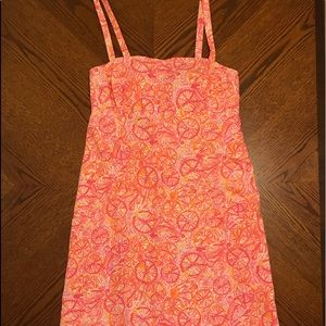 New Lilly Pulitzer Lola Dress Pink Orange 2 xs s