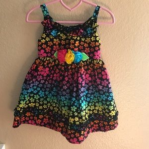 Youngland Other - 💜💙HP💚💛Bright rainbow colored flower dress.