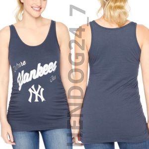 New York Yankees Baseball Maternity Black Scoop Neck