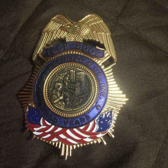 Gold Blackinton & Co  metal badge