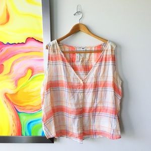 OLD NAVY Peach Cotton Picnic Top