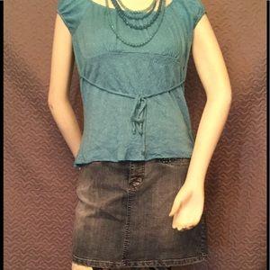 Apollo Jeans Dresses & Skirts - Plus size 1XL denim jean skirt one size leggings