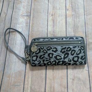 Coach Handbags - ⭐ Coach zip around ocelot wallet w/wristlet ⭐