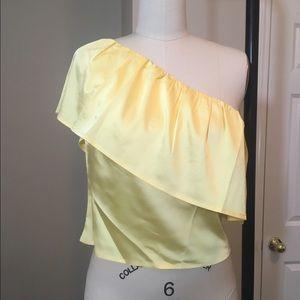 Fashion Nova Tops - Silk one shoulder top