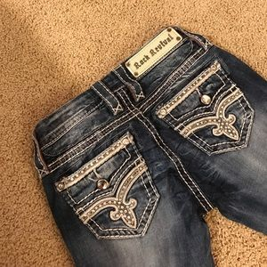 Denim - Size 24 boot cute rock revivals. Perfect condition