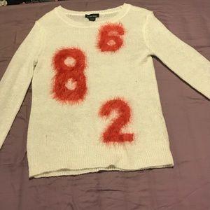 360 Sweater Sweaters - White, fuzzy sweater