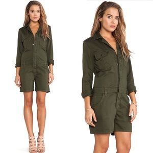 Joe's Jeans Other - JOE'S JEANS Green Military Shirttail Romper