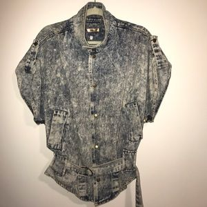 36 Point 5 Jackets & Blazers - Vintage 80s Acid Wash Denim Jacket