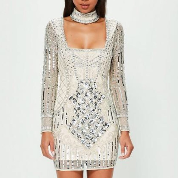 c8dfb978ecb7d Missguided Dresses | Embellished Choker Mini Dress | Poshmark