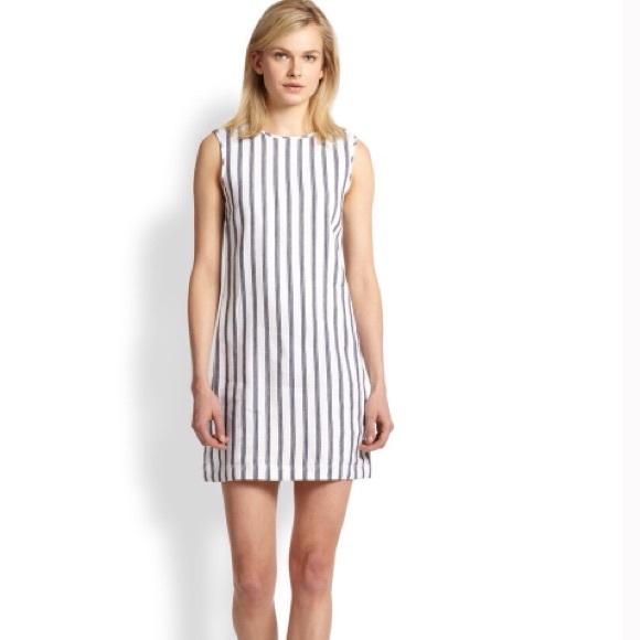 342ed04636c70 ❣️SALE❣️Theory Chonos Adraya Striped Dress. M 593e24d1c6c795fd79046223