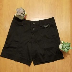 Y-3 Pants - Black Bermuda shorts