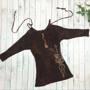 Salvage Dresses & Skirts - NWOT Salvage Dagger Cold Shoulder Dress