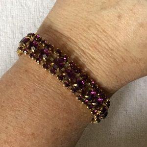 ⬇️ Reduced ⬇️ Vintage Purple Rhinestone Bracelet!