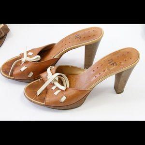 Alberto Fermani Shoes - Alberto Fermani brown leather mule, made in Italy