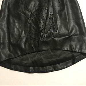 Shilla Skirts - 🎈SALE SHILLA Hi Lo Black Vegan Leather Mini Skirt