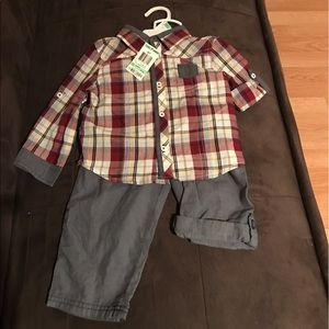 First impressions boys short & pant set