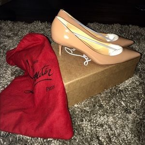 Christian Louboutin Shoes - low heel pigalle follies heel neutral colour